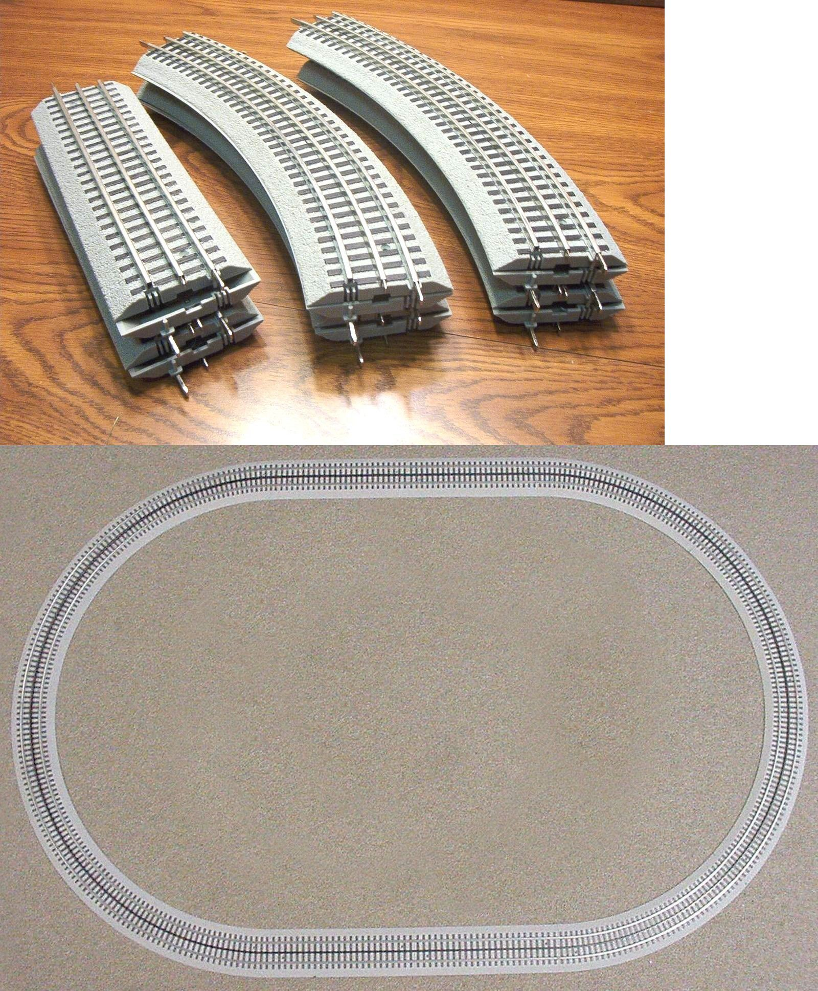 FREE SHIPPING!!! Lionel Fastrack Oval 40 X 60 /& Terminal Section FREE SHIPPING