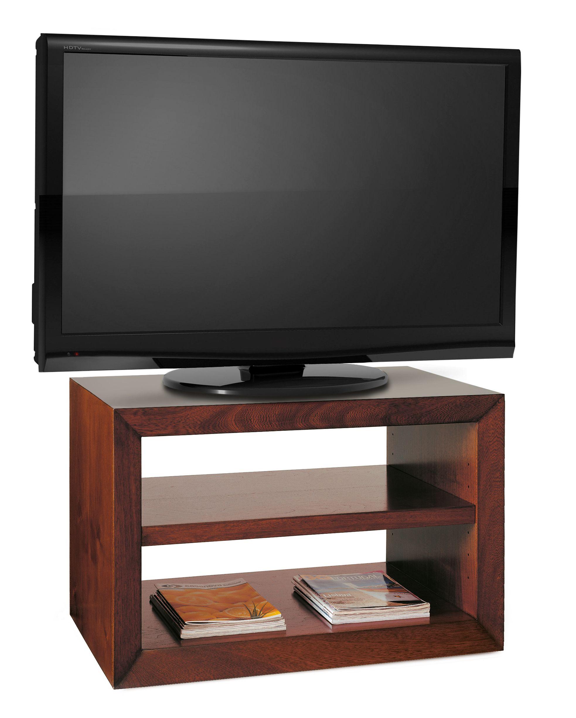 Mueble de televisión formado por una estructura con un marco ...
