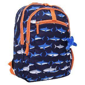 Crckt Shark Backpack - Blue/Orange | Back