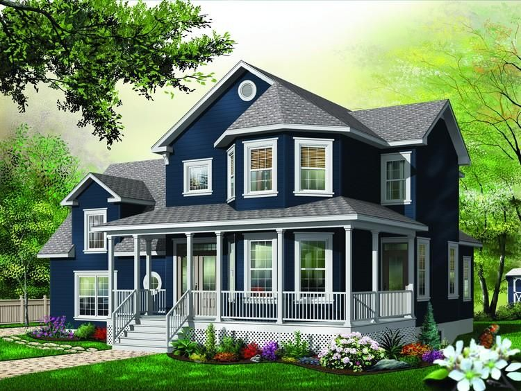 Photo of House Plan 034-00830 – Victorian Plan: 2,411 Square Feet, 3 Bedrooms, 2.5 Bathrooms