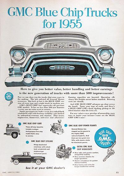 1955 Gmc Canadian Model 9300 Pickup Truck Original Vintage