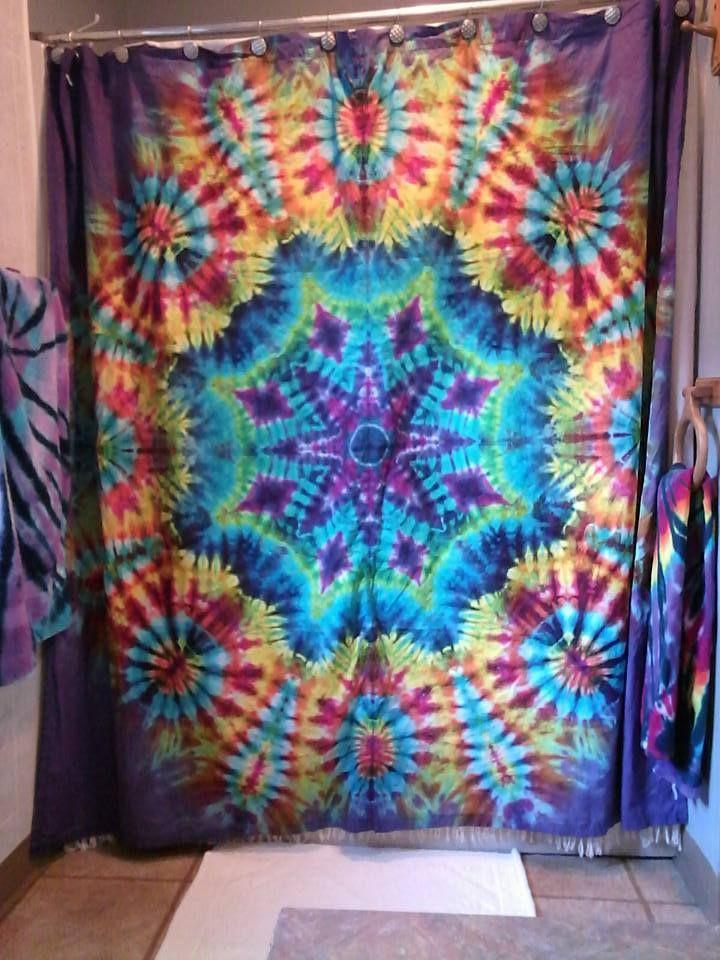 Floral Mandala Design Original Istanbul Blue Fabric Shower Curtain