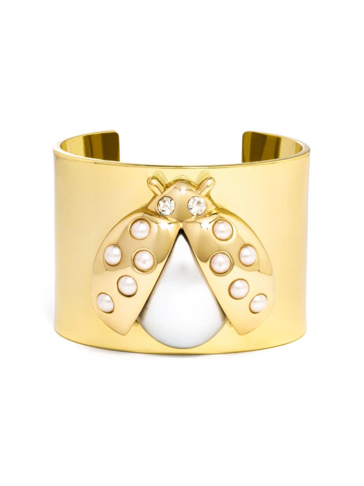 Ladybird cuff pearls bracelets and fashion