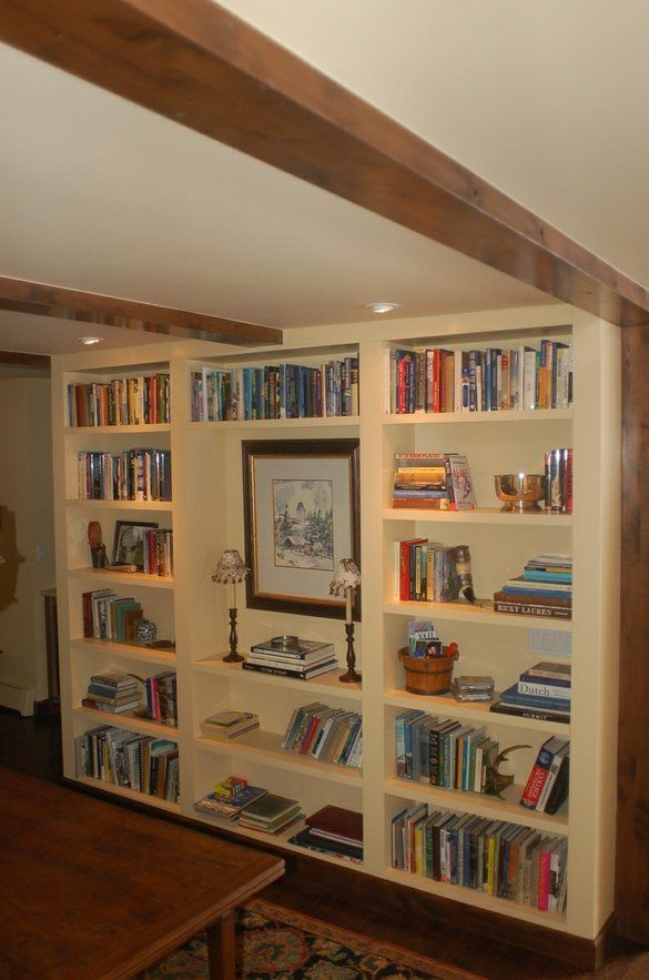 Built in Book Case by Paragon Woodworking