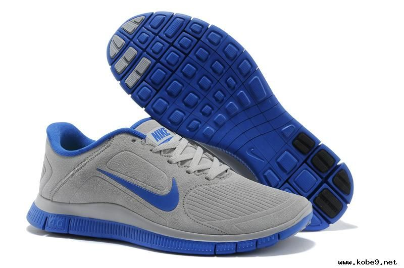 ... Cheap Mens Nike Free 4.0 V3 Suede Grey Blue Running Shoes ...