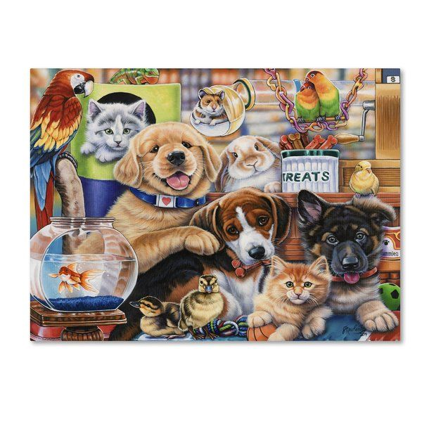 Pet Shop Painting Print On Wrapped Canvas Trademark Art Paint