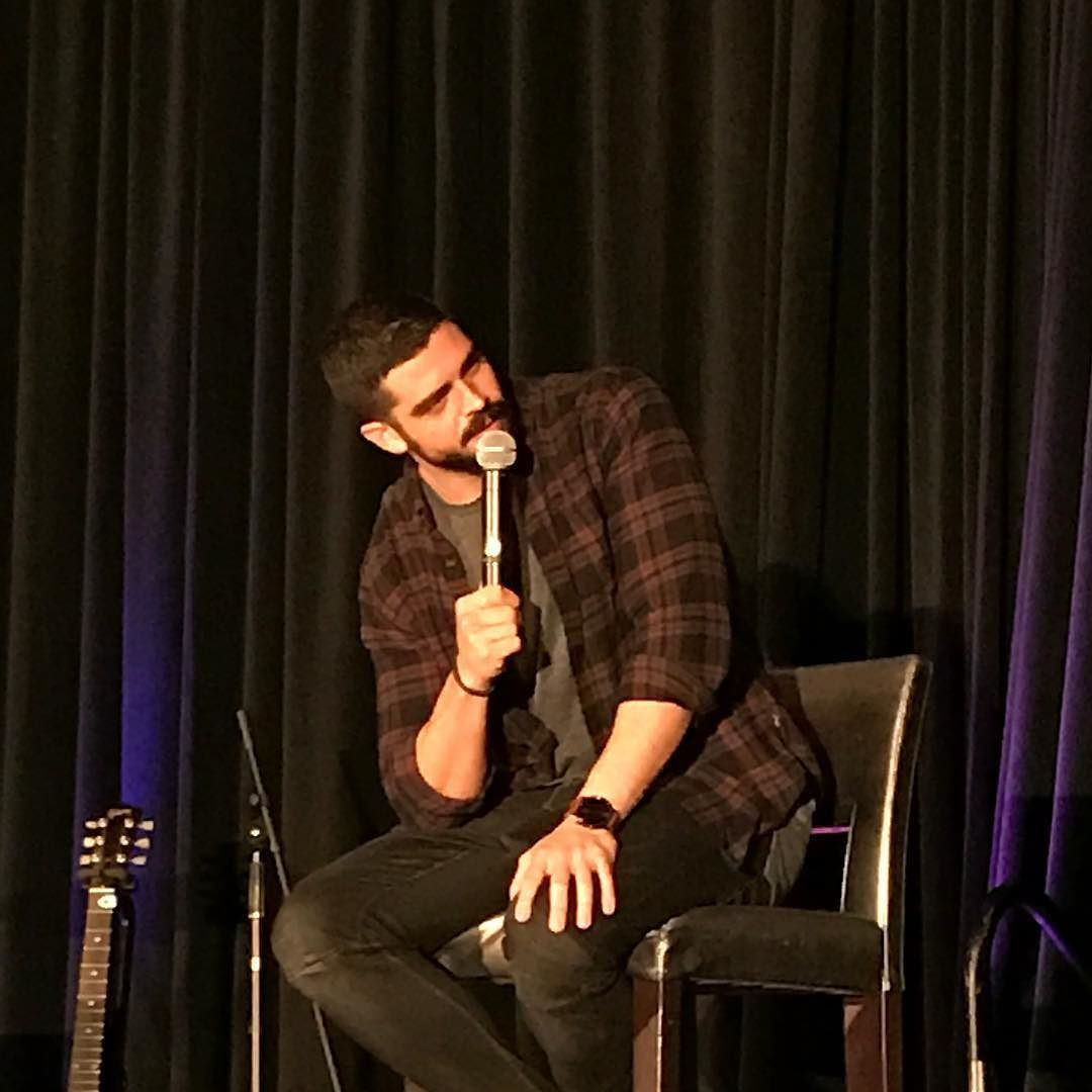 Our MC for the weekend doing his Q&A @micahjoeparker #tvdorlando
