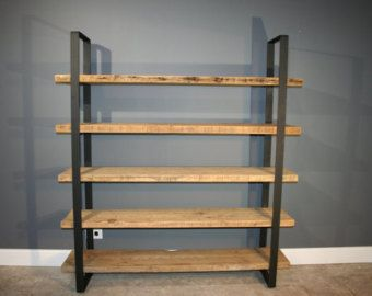 reclaimed wood unit with 5 urban look with flat steel