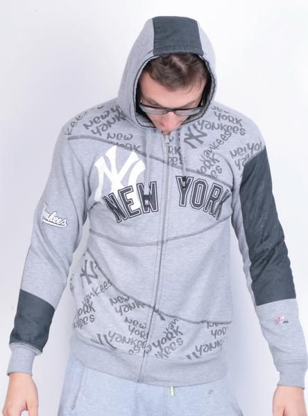 the latest b04dd b08d2 Majestic Mens S New York Yankees Sweatshirt Grey Hood ...