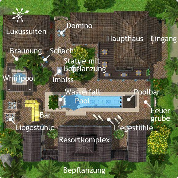 Sims 3 häuser zum nachbauen luxus  Sims 3 Tutorial: Resort selber bauen | Sims3 - Häuser | Pinterest ...