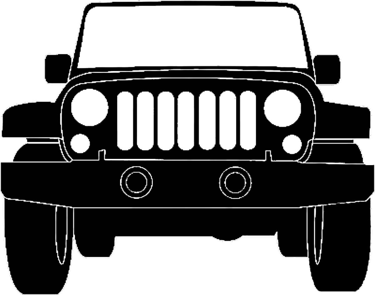Jeep Silhouette Illustration Jeep Grill Jeep Art Jeep