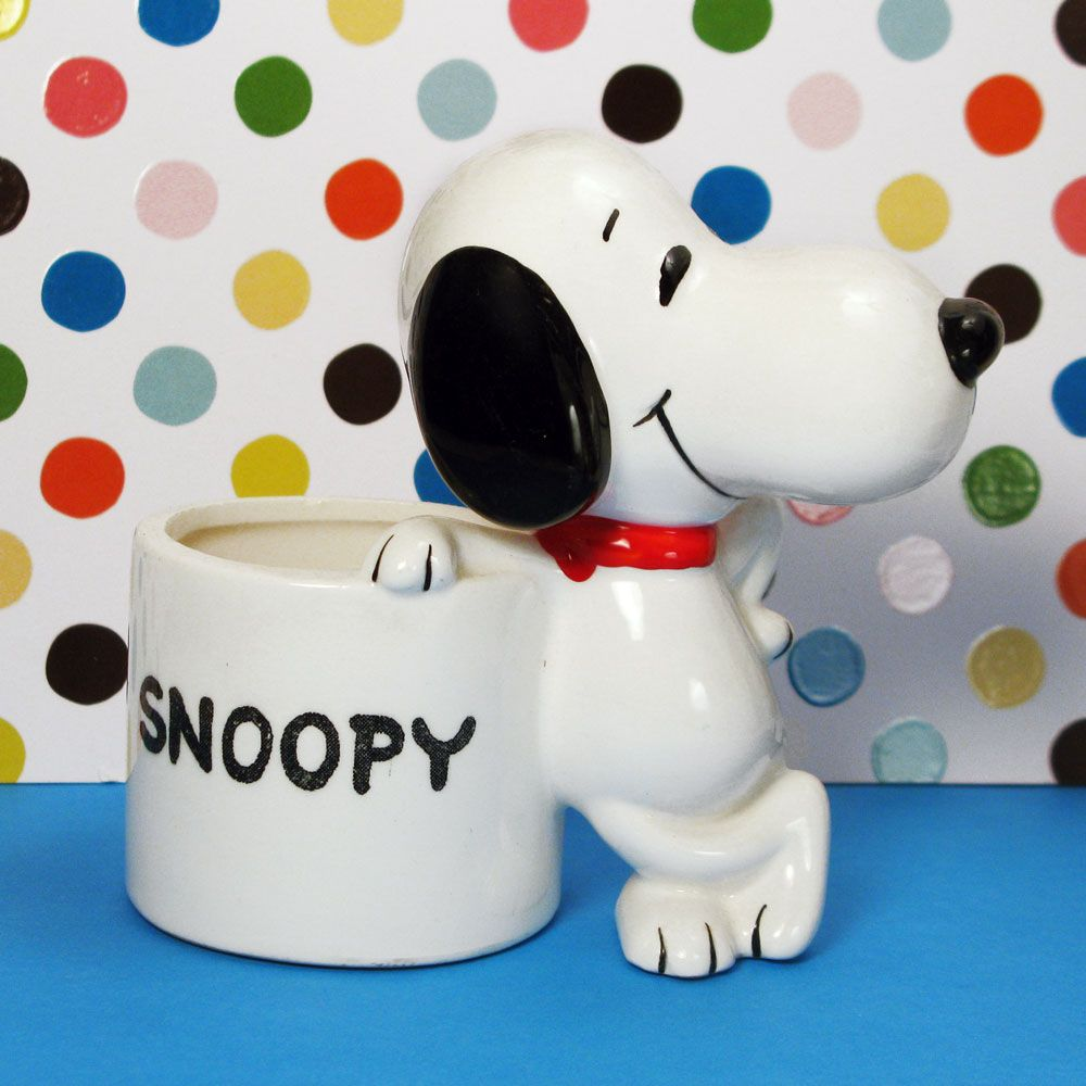 Bring a little nature into your home with Snoopy Planters! Perfect for small house plants and flowering annuals, find the vintage ceramic planters in our shop at CollectPeanuts.com.