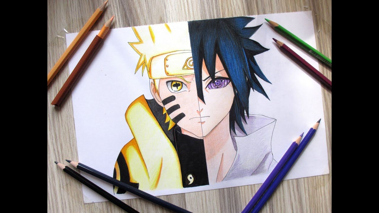 Drawing Naruto Vs Sasuke Sage Of Six Path Naruto Vs Sasuke