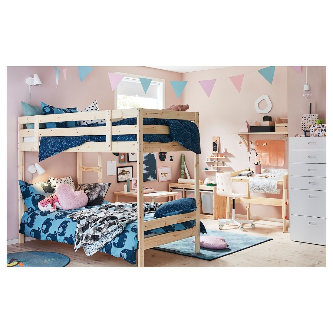 Mydal Bunk Bed Frame Pine Twin Ikea Beds