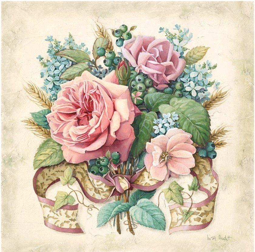 Картинки винтажные розы для декупажа, открытки