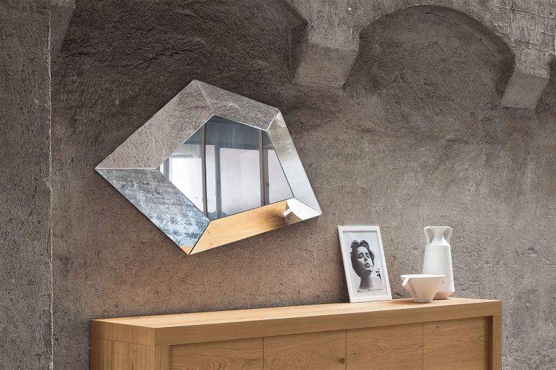 Specchi di design tridimensionali eccentriche sculture