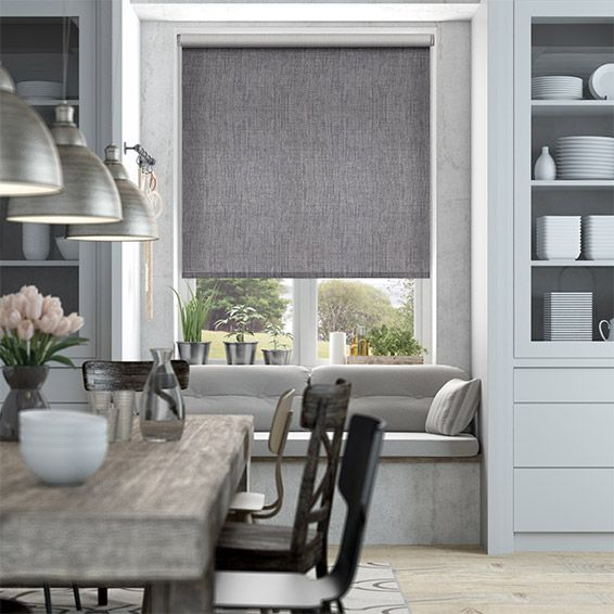 Thermal Luxe Dimout Cinder Roller Blind Cortinas, Persianas y