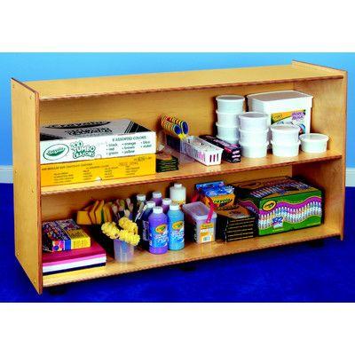 """Childcraft 2 Shelves Mobile Open Shelving Unit Size: 30"""" H x 48"""" W x 14.5"""" D"""