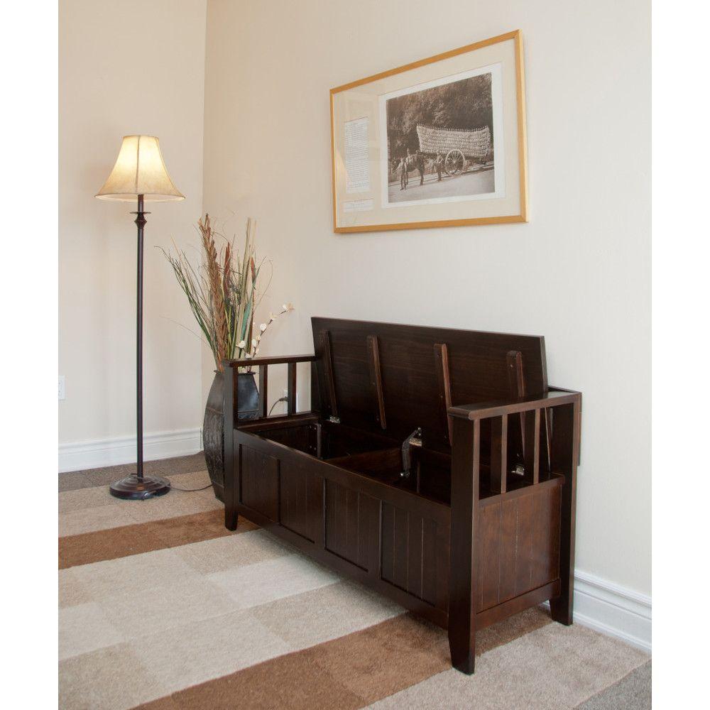 Acadian entryway bench shopca simpli home entryway