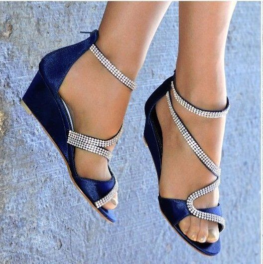 Details about LADIES SATIN DIAMANTE DETAIL LOW MID WEDGE HEEL PEEP TOE STRAPPY SHOES SIZES 3-8