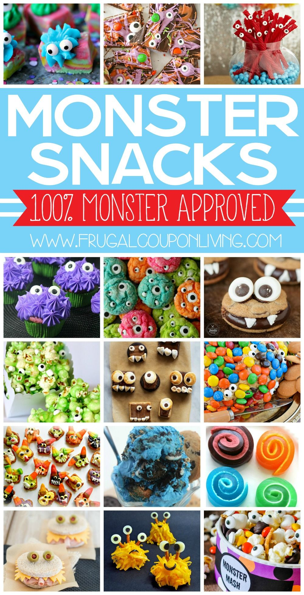 Monster Snacks for Kids and Monster Party Ideas