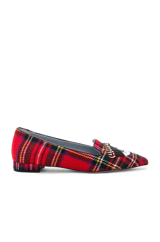 Chiara Ferragni Piercing Flirting Pointed Toe Flat in Scottish | REVOLVE