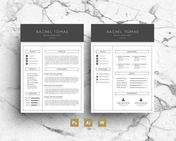 Resume and matching cover letter