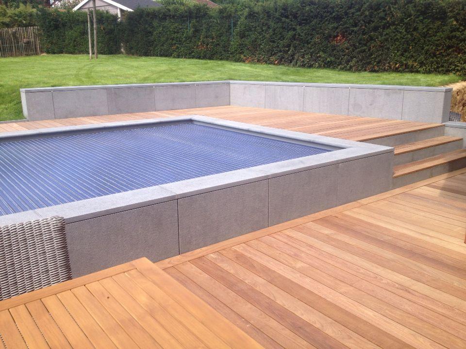 Terrasse en bois mur en pierre bleue 06 matériaux Pinterest