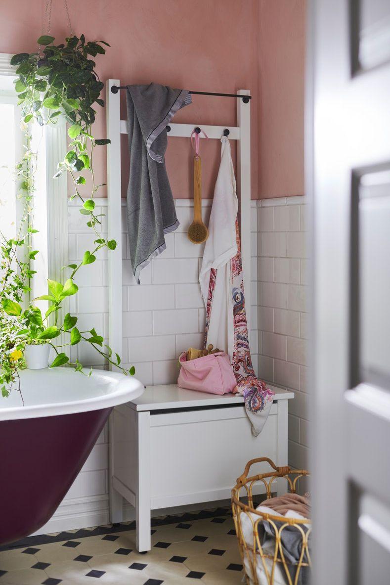HEMNES Truhe mit Handtuchstange/12 Haken - weiß - IKEA Deutschland