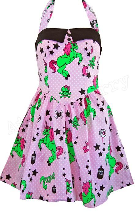 7f16311615ad Hell Bunny Zombie Unicorn Mini Dress $45. Hell Bunny Zombie Unicorn Mini  Dress $45 Rockabilly Pin Up ...