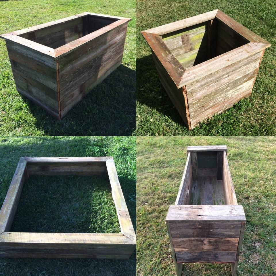Recycled hardwood fence paling garden beds  1200x1200x300 $50