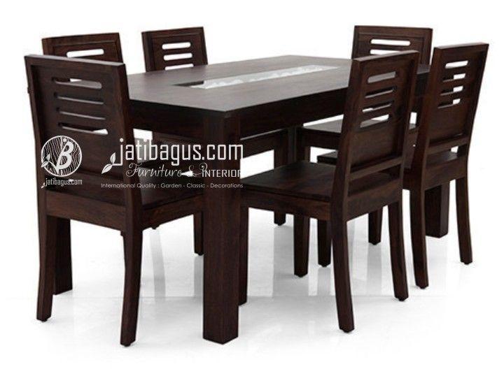 meja makan minimalis batu kerang