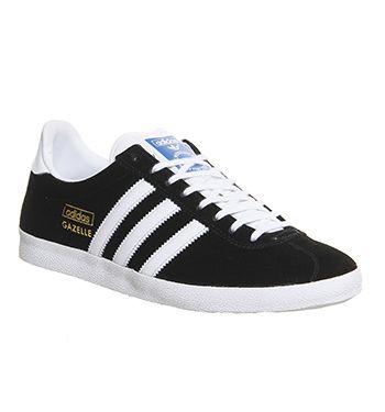 adidas Gazelle Og Black White Metallic Gold - His trainers ...