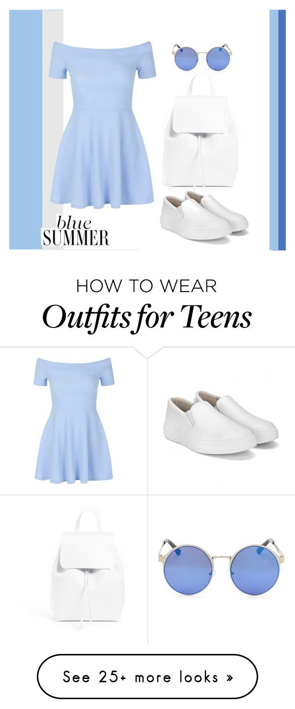 """""""blue summer"""" by dayanamadness on Polyvore featuring Mansur Gavriel and New Look"""