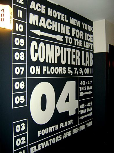 Ace Hotel Signane and wayfinding by OMFGco.