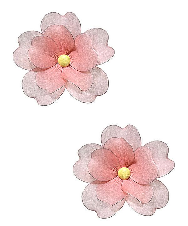 Take a look at this Peach Multilayer Hanging Flower - Set of Two on zulily today!