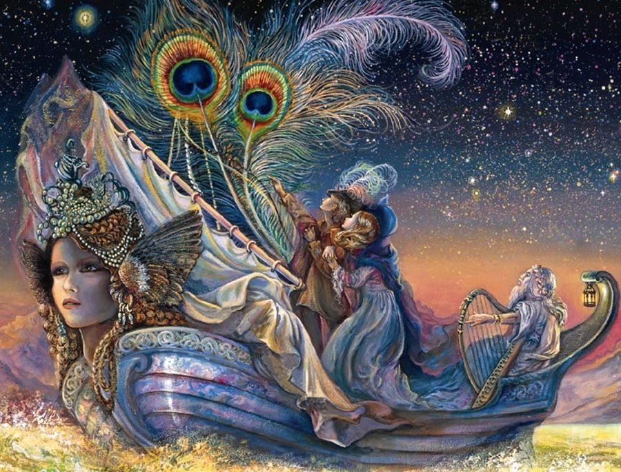 """Lady Ship (zoom)"" par Josephine Wall"