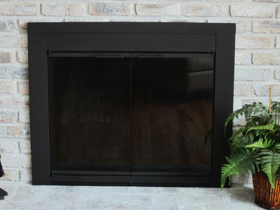 Update Fireplace Doors With Spray Paint Fireplace Doors Paint