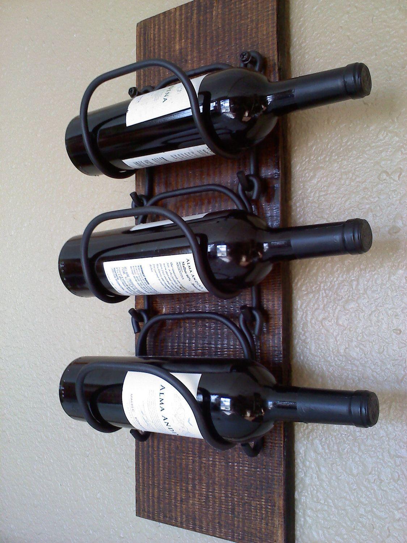Wall Hanging Wooden Wine Rack Bathroompowder Room Wine Rack