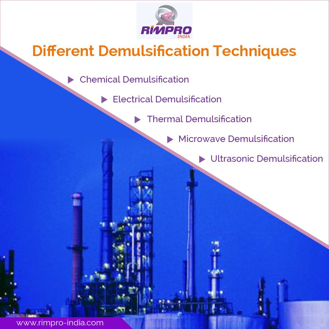 Demulsification Techniques, Chemical, Thermal
