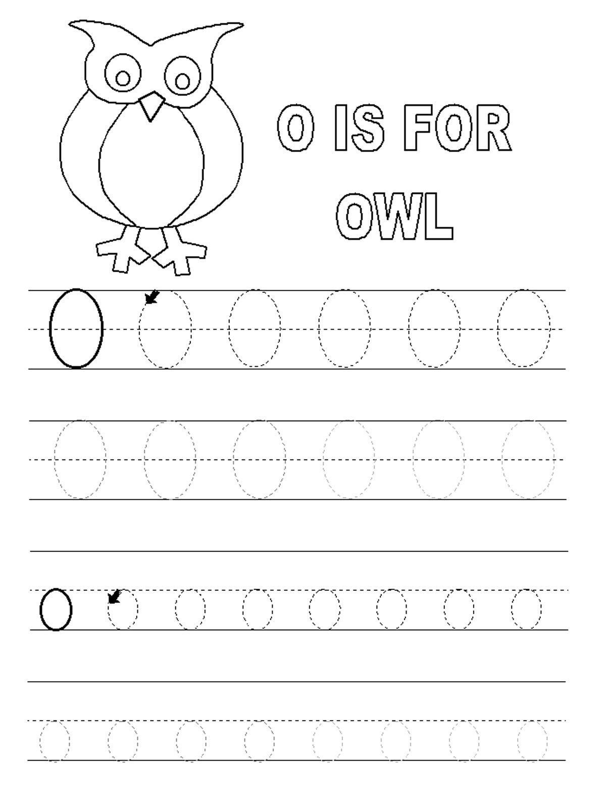 Letter O Worksheet For Kindergarten Letter O Worksheets