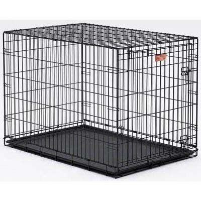 Cheap Midwest Homes For Pets Life Stages Single Door Folding Metal Dog Crate Black 36 X 24 X 27 Inch Folding Dog Crate Wire Dog Crates Dog Crate
