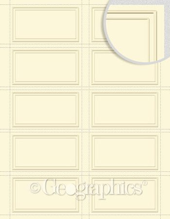 Blank Ivory Duet Embossed Business Cards 2x3 5 150 Pk 6 Pks Case Embossed Business Cards Cards Printable Cards