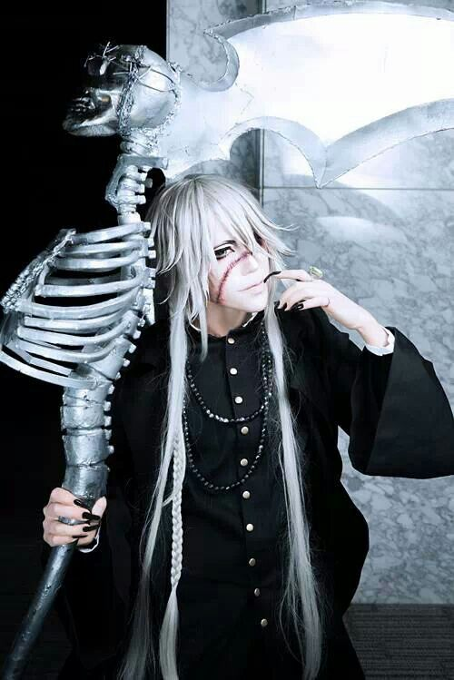 Sakuya as Undertaker. Kuroshitsuji cosplay ♥ Taken from Sakuya's Facebook