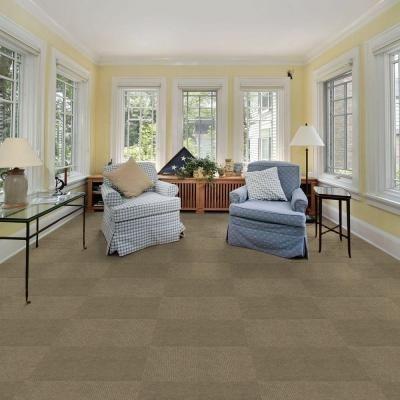 Foss Peel And Stick Hobnail Taupe Texture 18 In X 18 In Residential Carpet Tile 16 Tiles Case Cn14n4016pks The Home Depot Outdoor Carpet Carpet Tiles Carpet Tiles Basement
