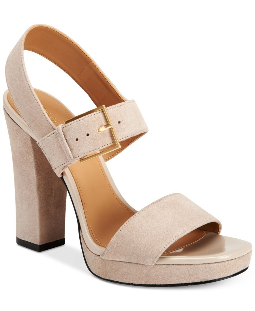ab671ed0c Calvin Klein Women's Bette Platform Dress Sandals | macys.com ...