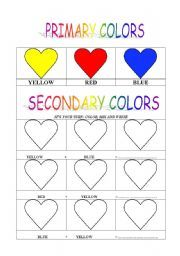 primary secondary colors color theory teaching aids pinterest secondary color worksheets. Black Bedroom Furniture Sets. Home Design Ideas