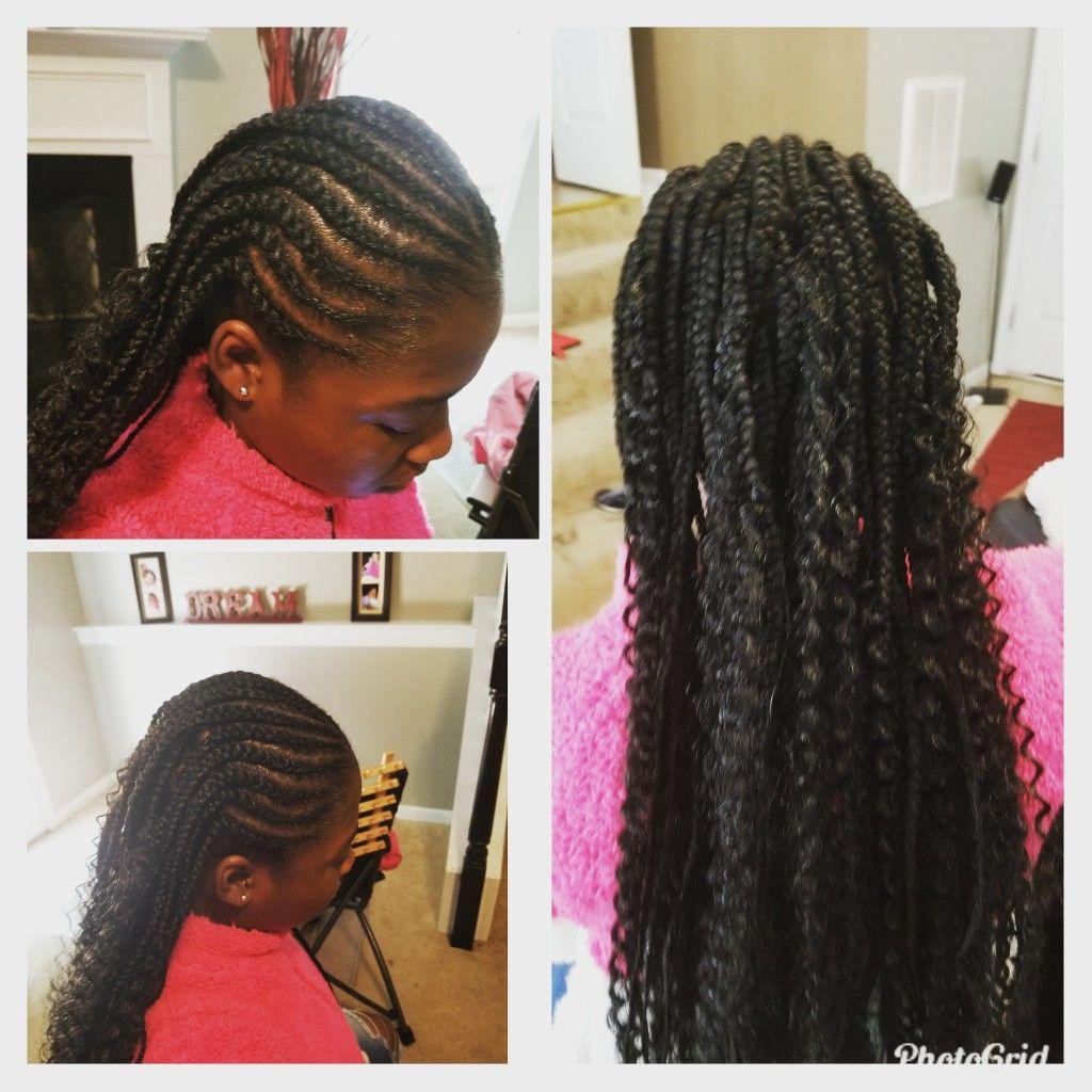 18+ Tribal braids with curls ideas