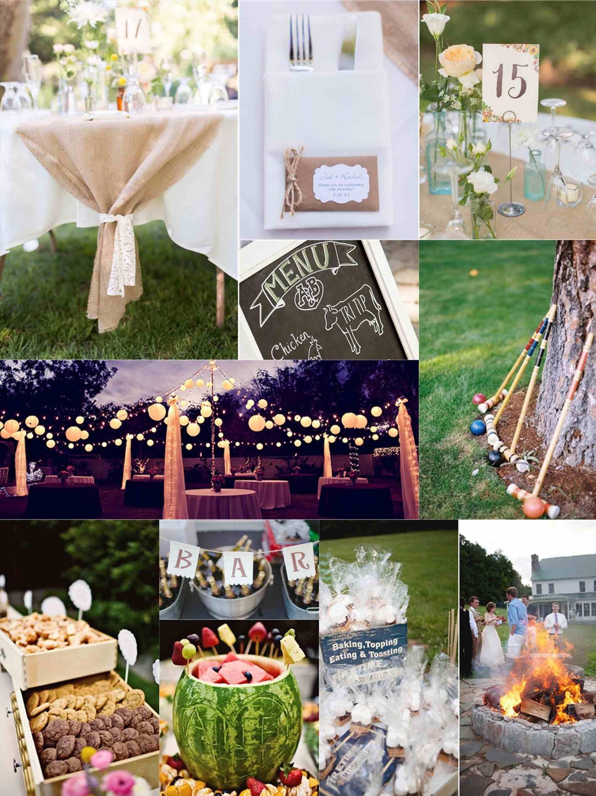 Backyard Wedding Reception Food Ideas | Cheap backyard ...