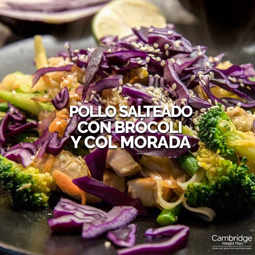 Pollo Salteado Con Brócoli Y Col Morada Cambridge Weight Plan Mexico Comida Saludable Ensaladas Recetas Con Col Pollo Salteado